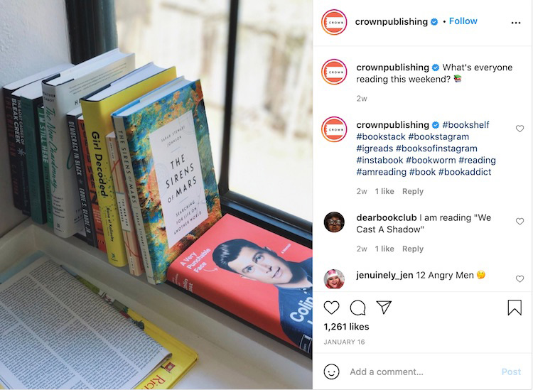 Publisher Question Bookstagram