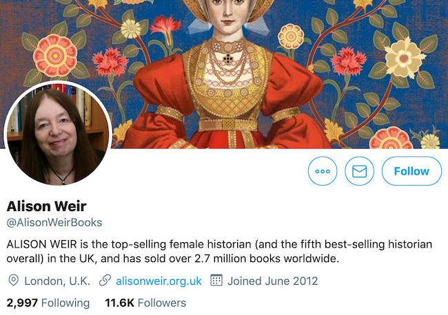 Alison Weir Twitter Header