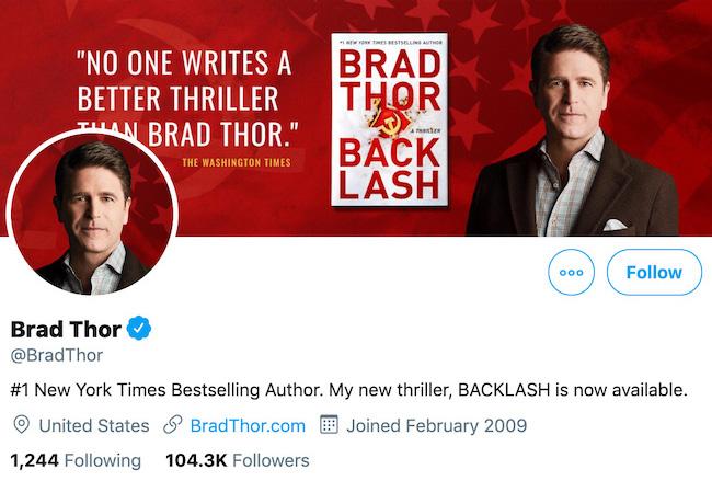 Brad Thor Twitter Header