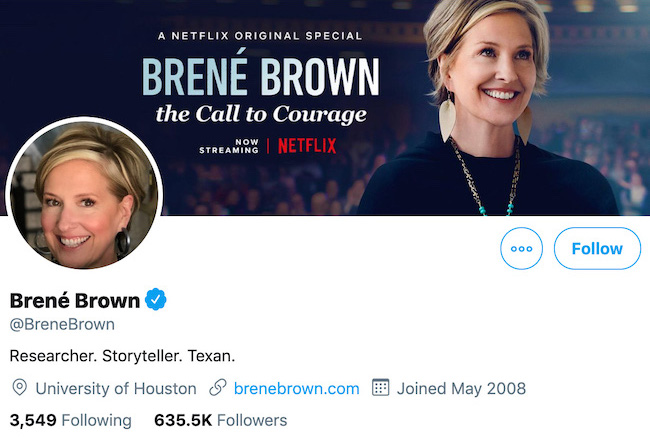 Brene Brown Twitter Header