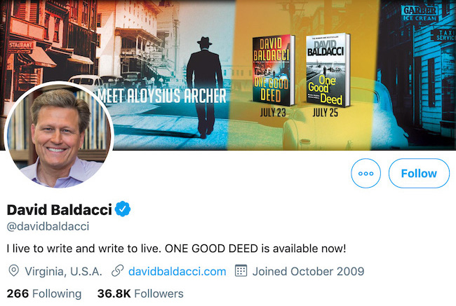 David Baldacci Twitter Header