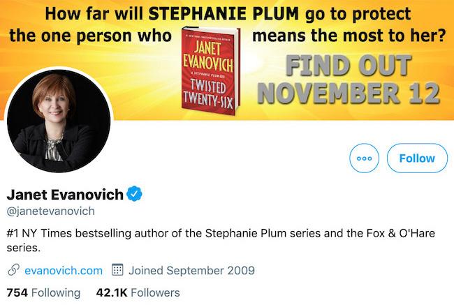 Janet Evanovich Twitter Header