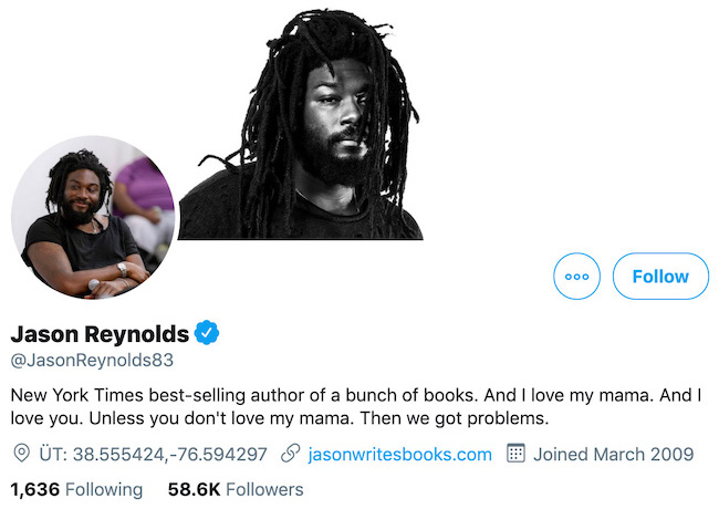 Jason Reynolds Twitter Header