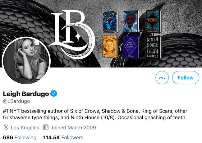 Leigh Bardugo Twitter Header