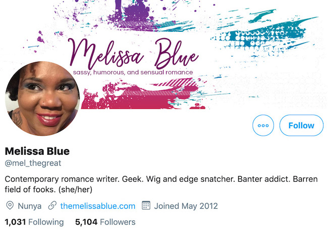 Melissa Blue Twitter Header