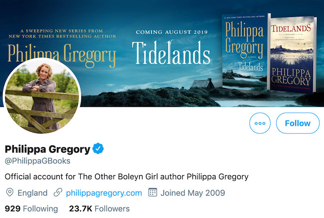 Philippa Gregory Twitter Header
