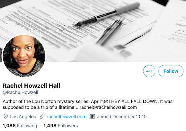 Rachel Howzell Hall Twitter Header