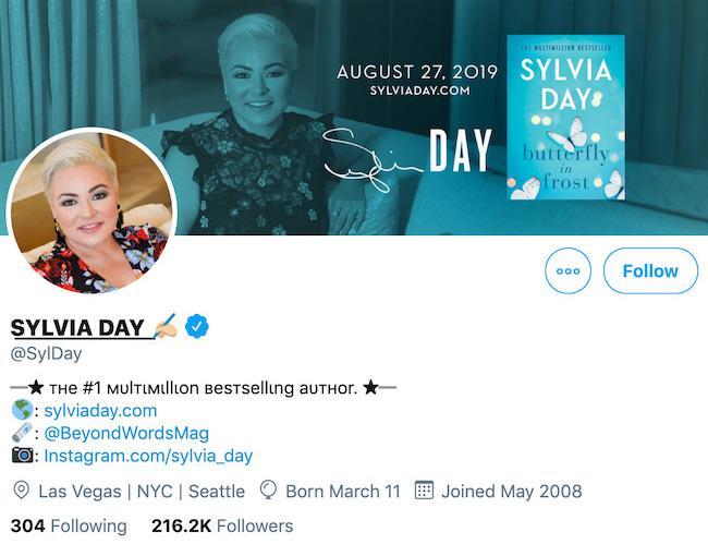 Sylvia Day Twitter Header
