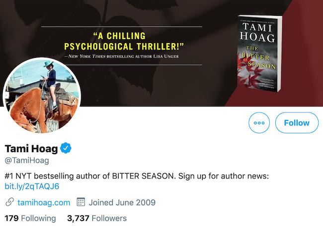 Tami Hoag Twitter Header