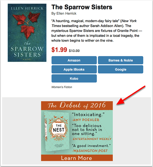 BookBub Ads Example