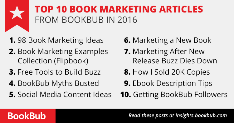 Top 10 Book Marketing Articles from BookBub in 2016