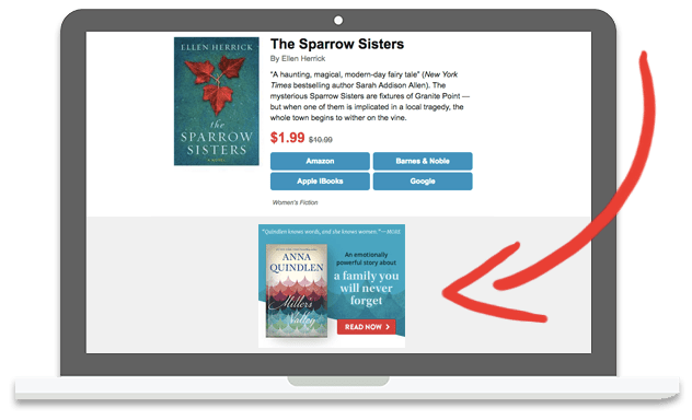BookBub Ads in the Daily Deals Email