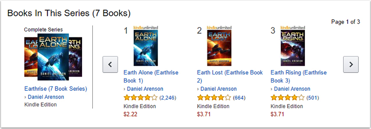 Book Series on Amazon