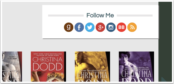 BookBub Follow Icons on Website