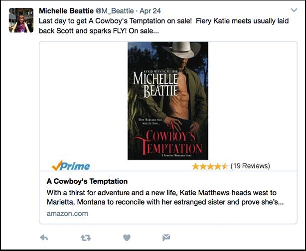 Cowboy's Temptation Tweet