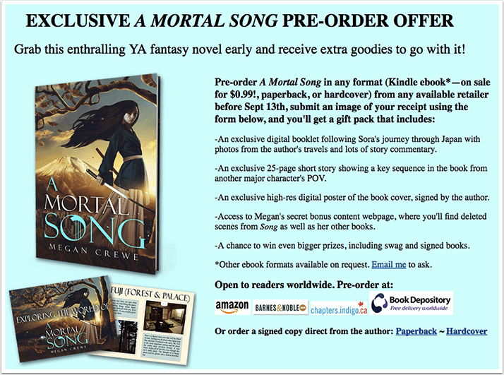 Mortal Song preorder digital gift pack