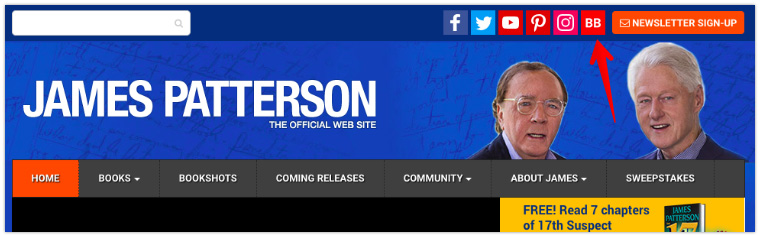 James Patterson's Site Header