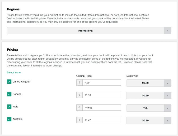 Region-Specific Ebook Promotion