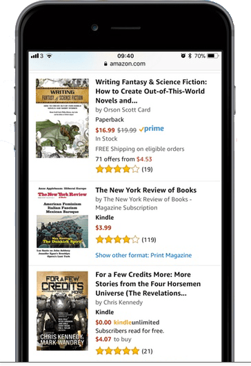 Cover Thumbnails on Amazon