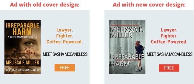 Cover design test with BookBub Ads