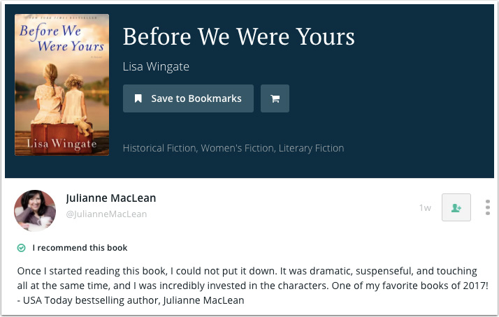 Julianne MacLean's Recommendation