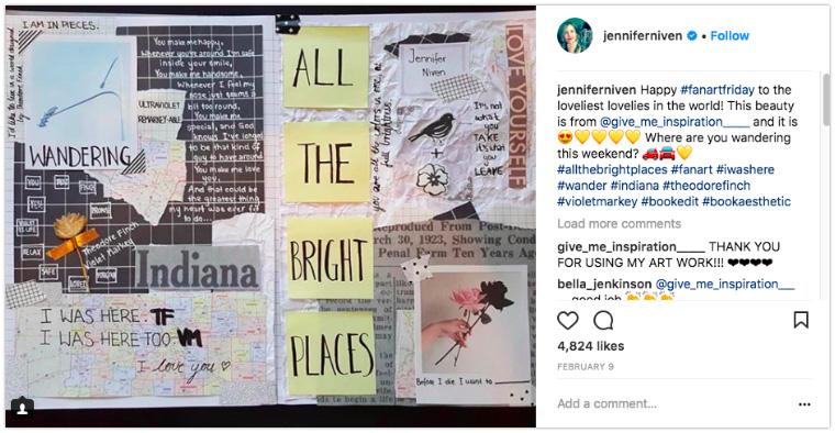 Jennifer Niven - Post fan art