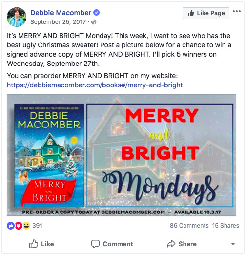 Giveaway on Facebook