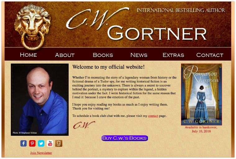 C.W. Gortner's Website