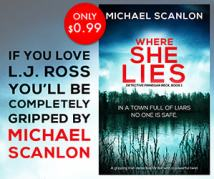 BookBub Ad example for Where She Lies
