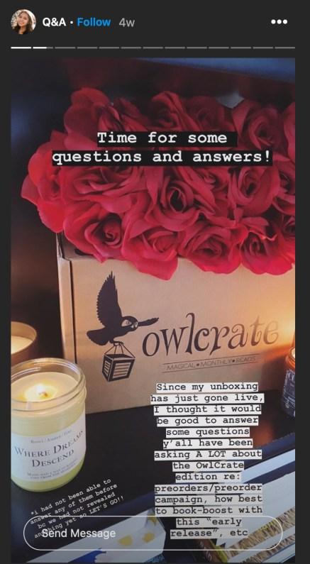 Instagram Author Q&A