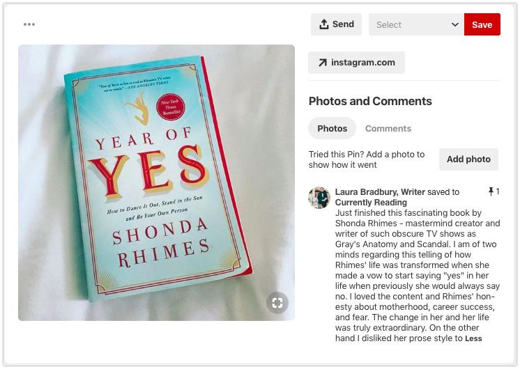 Pinterest Book Recommendation