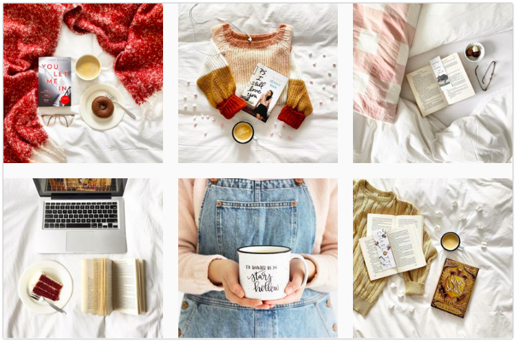 bookstagram feed aesthetic