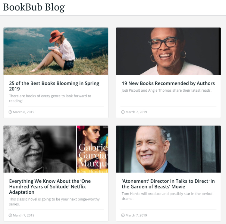 bookbub blog posts