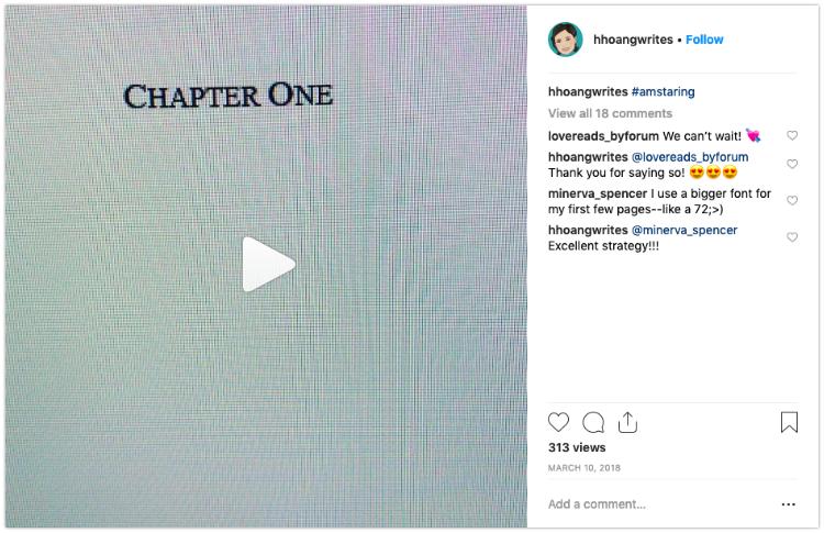 sneak peek bookstagram video