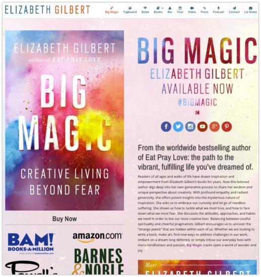 Website branding book promotion