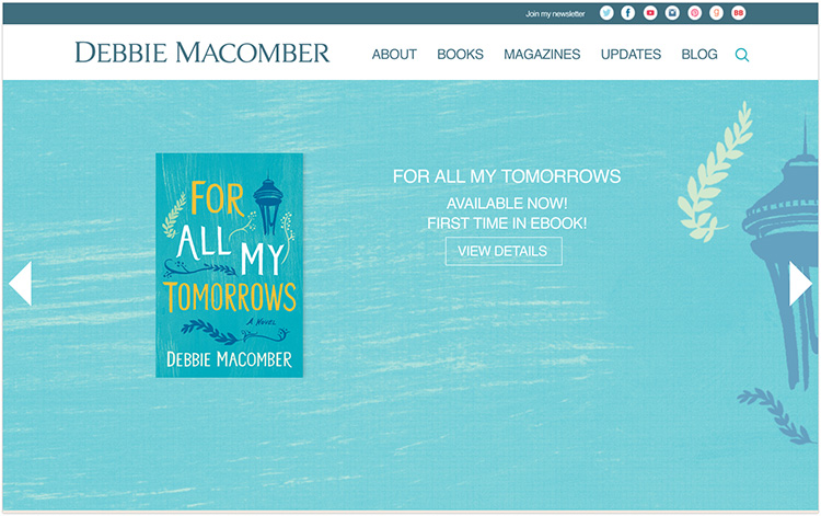 Debbie Macomber author website design