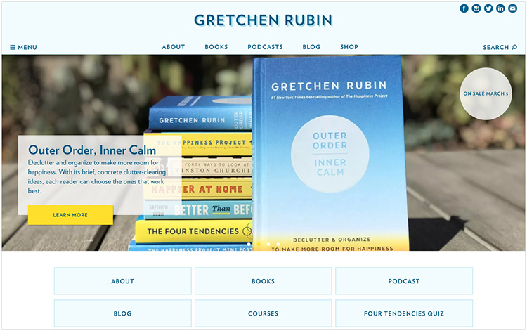 Gretchen Rubin author website design