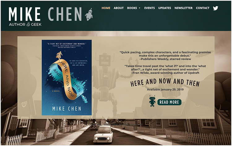 Mike Chen author website design