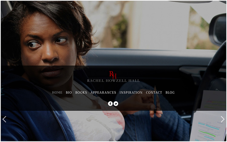 Rachel Howzell Hall author website design