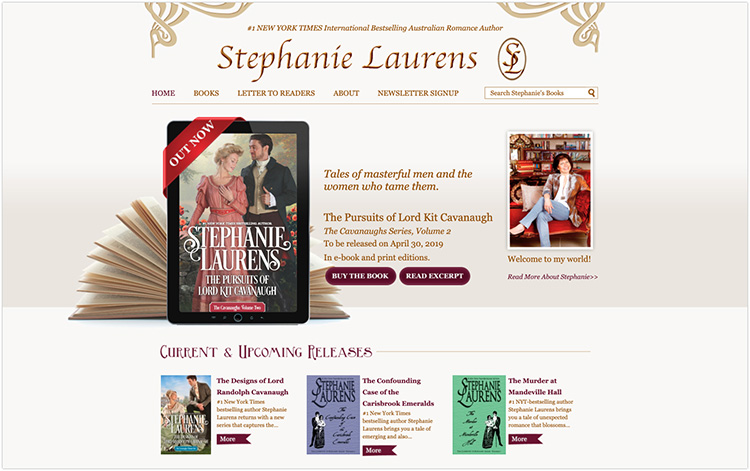Stephanie Laurens author website design