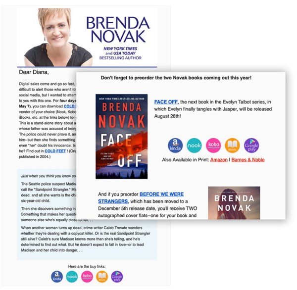 preorder promotion author newsletters