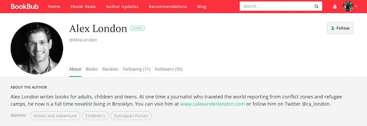 Alex London BookBub Author Profile