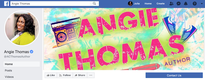 Angie Thomas Author Facebook Page