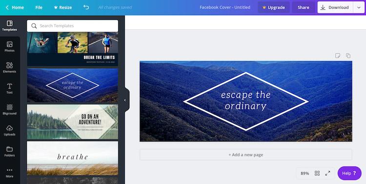 Author Facebook Cover Photo Design Tools