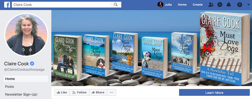 Claire Cook Facebook Page