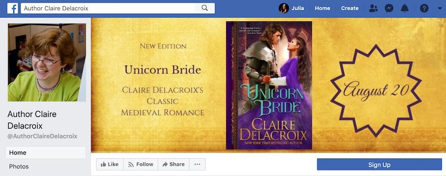 Claire Delacroix Facebook Page