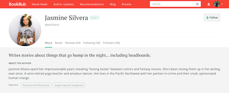 Jasmine Silvera BookBub Author Profile