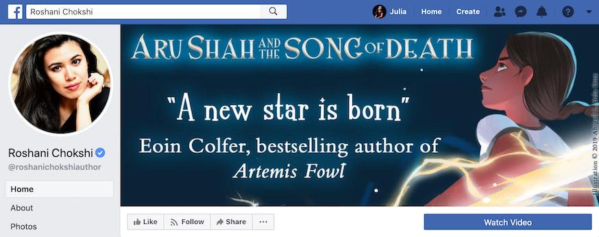 Roshani Chokshi Author Facebook Page