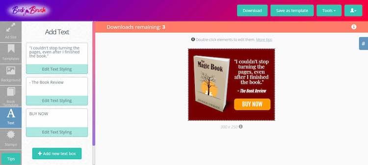 BookBrush - Designing Book Ads