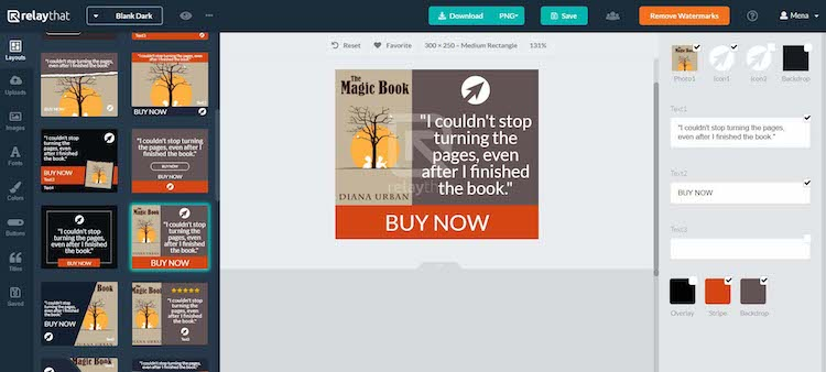 RelayThat - Designing Book Ads